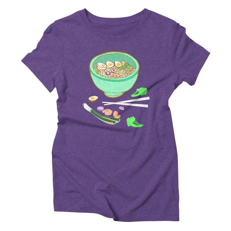 Bowl O' Noodle Women's Triblend T-Shirt by napiform clip art
