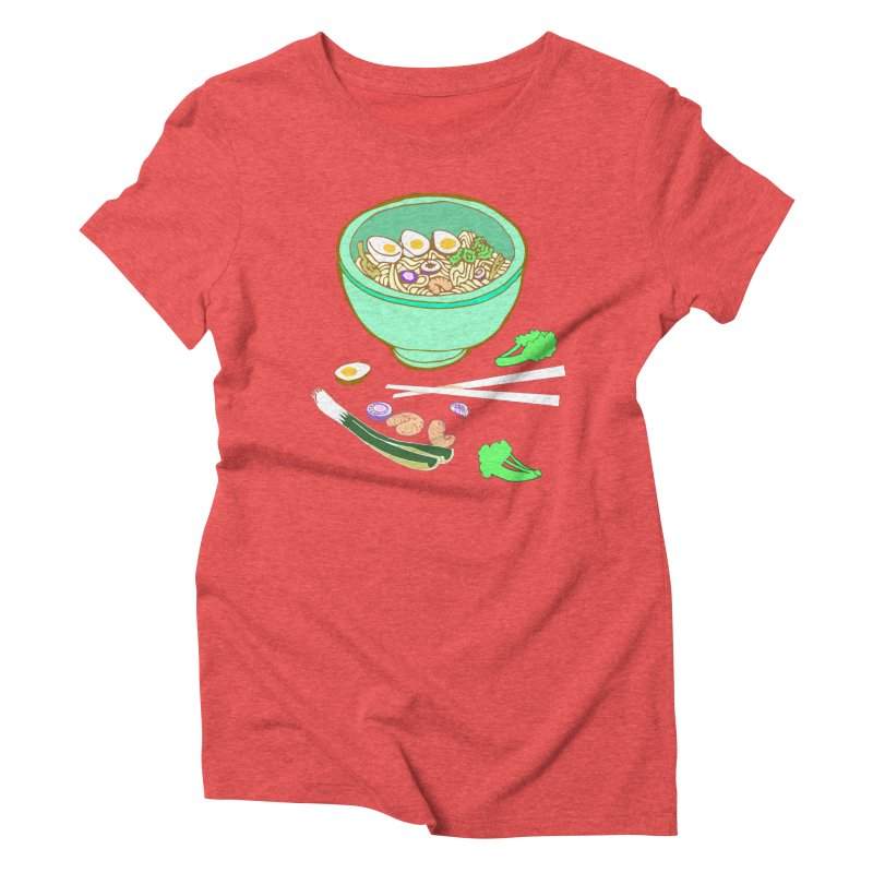 Bowl O' Noodle Women's Triblend T-Shirt by bad arithmetic