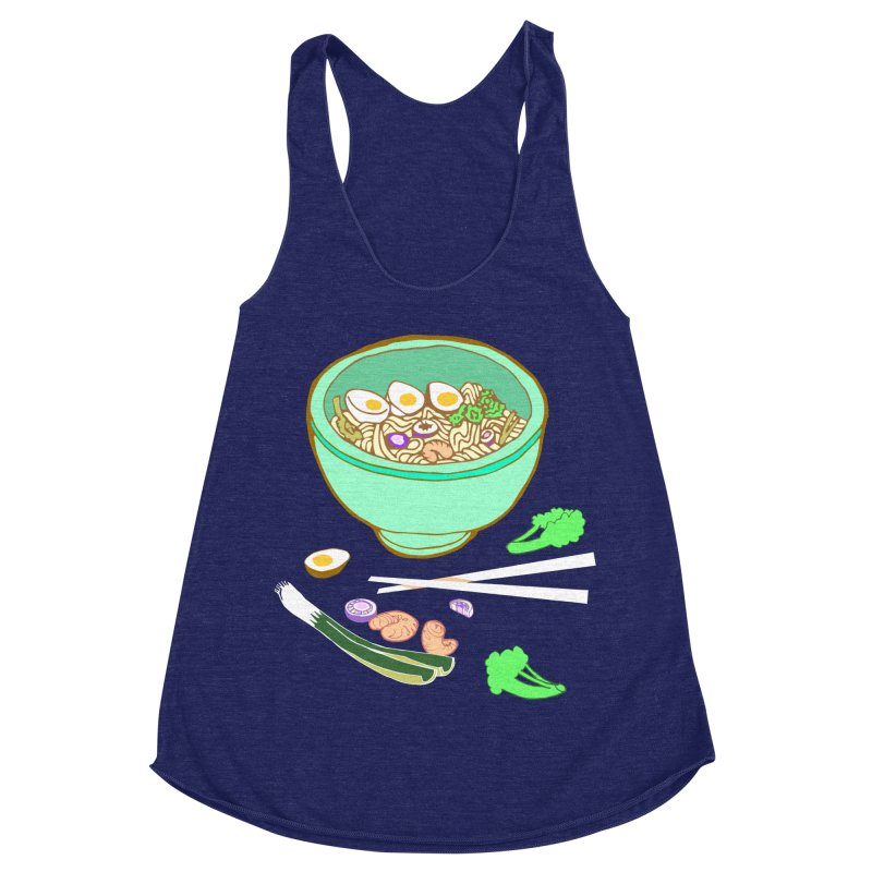 Bowl O' Noodle Women's Racerback Triblend Tank by bad arithmetic