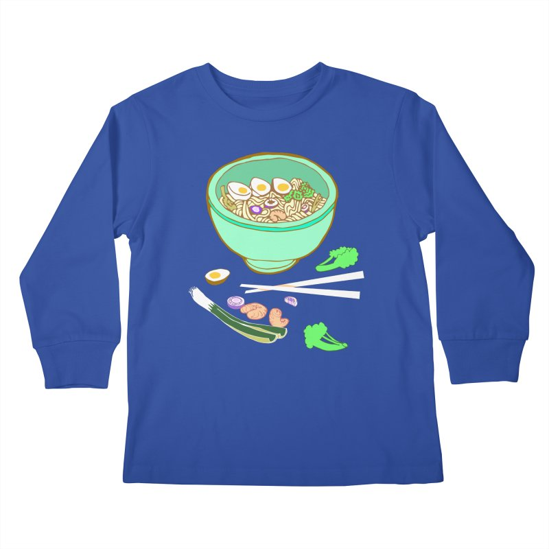 Bowl O' Noodle Kids Longsleeve T-Shirt by bad arithmetic