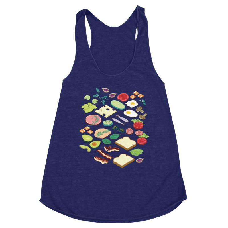 Some Assembly Required Women's Racerback Triblend Tank by bad arithmetic