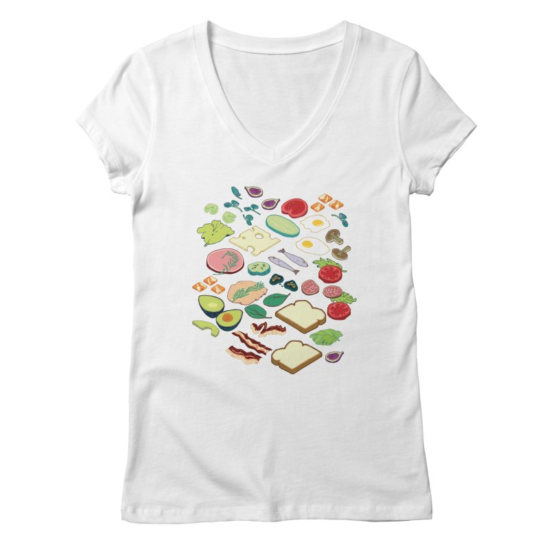 Some Assembly Required Women's Regular V-Neck by napiform clip art