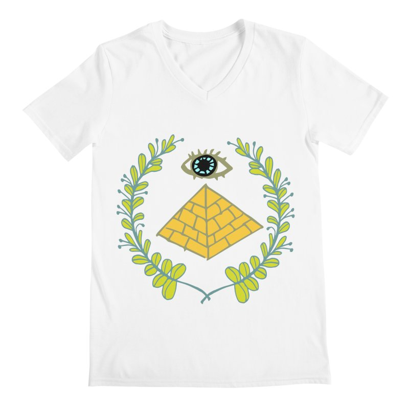 Pyramid <o> Scheme Men's Regular V-Neck by bad arithmetic