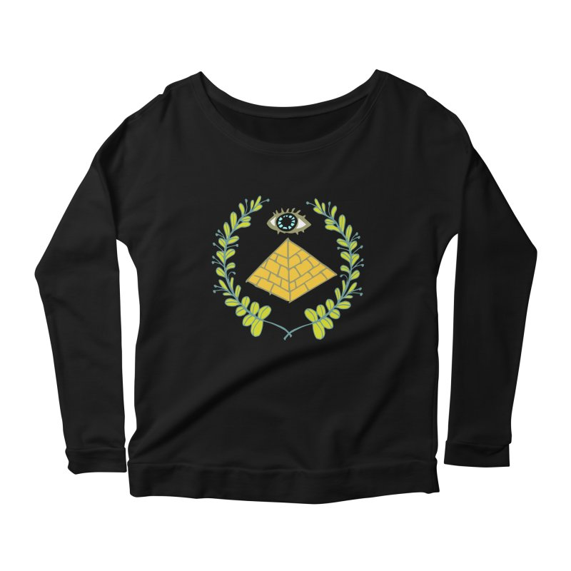 Pyramid <o> Scheme Women's Scoop Neck Longsleeve T-Shirt by bad arithmetic