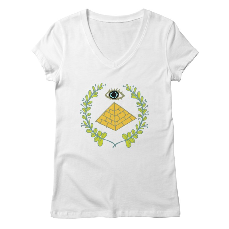 Pyramid <o> Scheme Women's Regular V-Neck by bad arithmetic