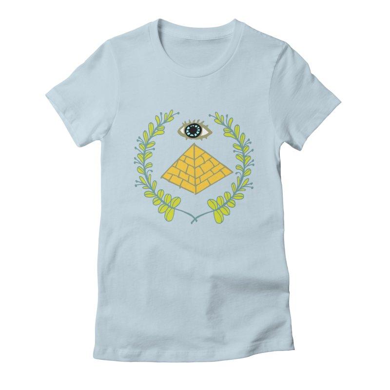 Pyramid <o> Scheme Women's T-Shirt by bad arithmetic