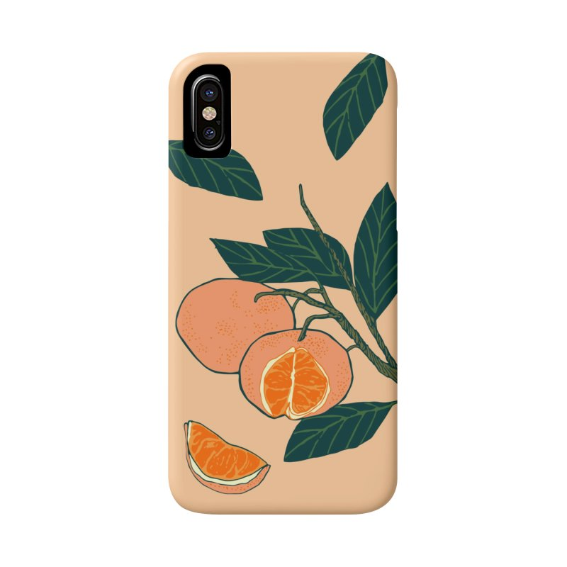Satsumas in iPhone X / XS Phone Case Slim by napiform clip art