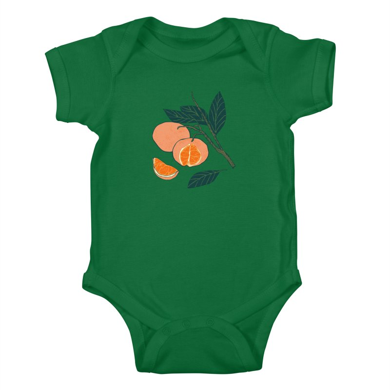 Satsumas Kids Baby Bodysuit by bad arithmetic