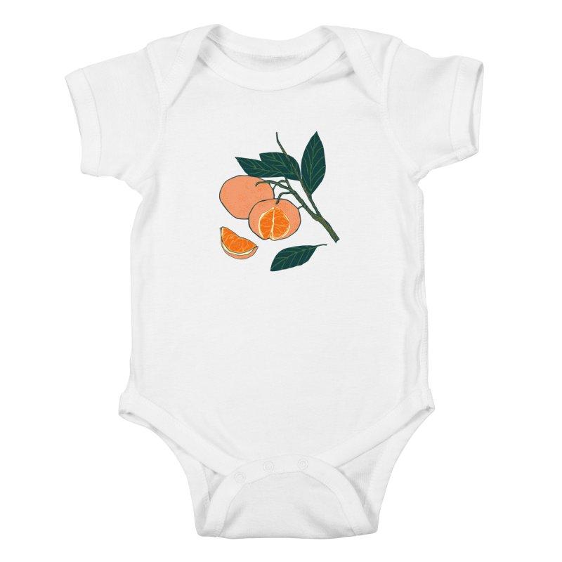 Satsumas Kids Baby Bodysuit by bad arithmetic