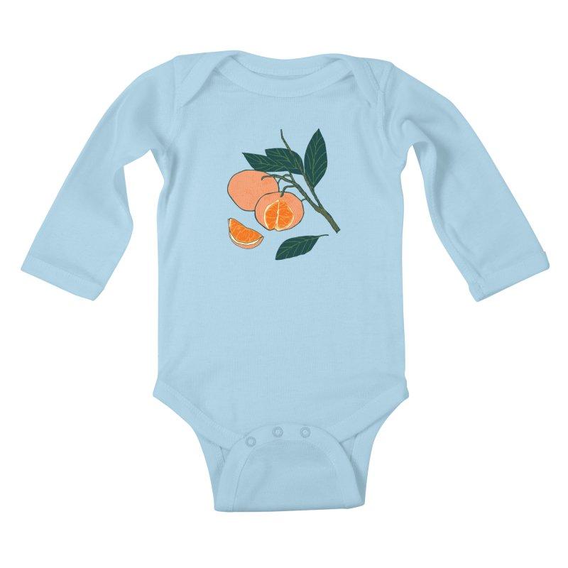 Satsumas Kids Baby Longsleeve Bodysuit by bad arithmetic