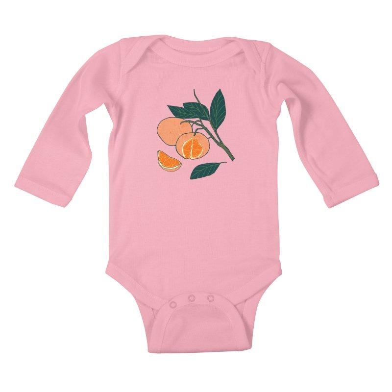 Satsumas Kids Baby Longsleeve Bodysuit by napiform clip art