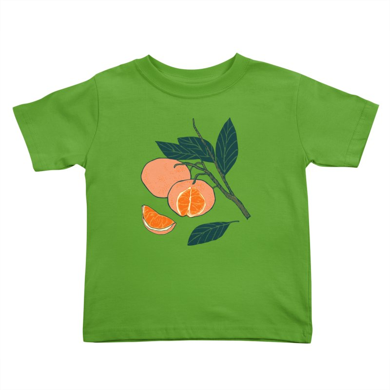 Satsumas Kids Toddler T-Shirt by bad arithmetic