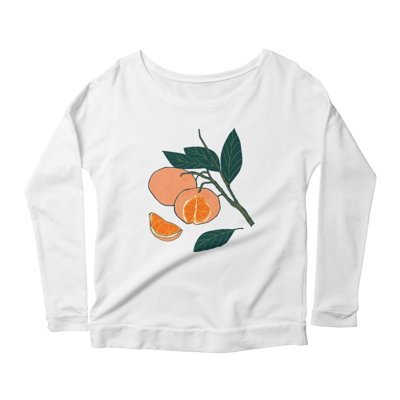 Satsumas Women's Scoop Neck Longsleeve T-Shirt by bad arithmetic