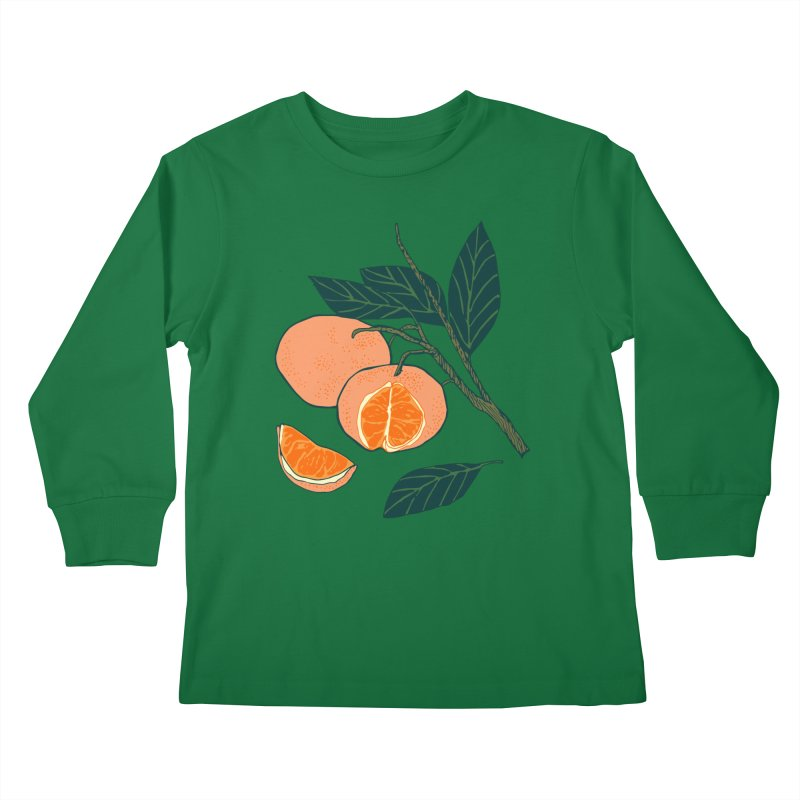 Satsumas Kids Longsleeve T-Shirt by bad arithmetic