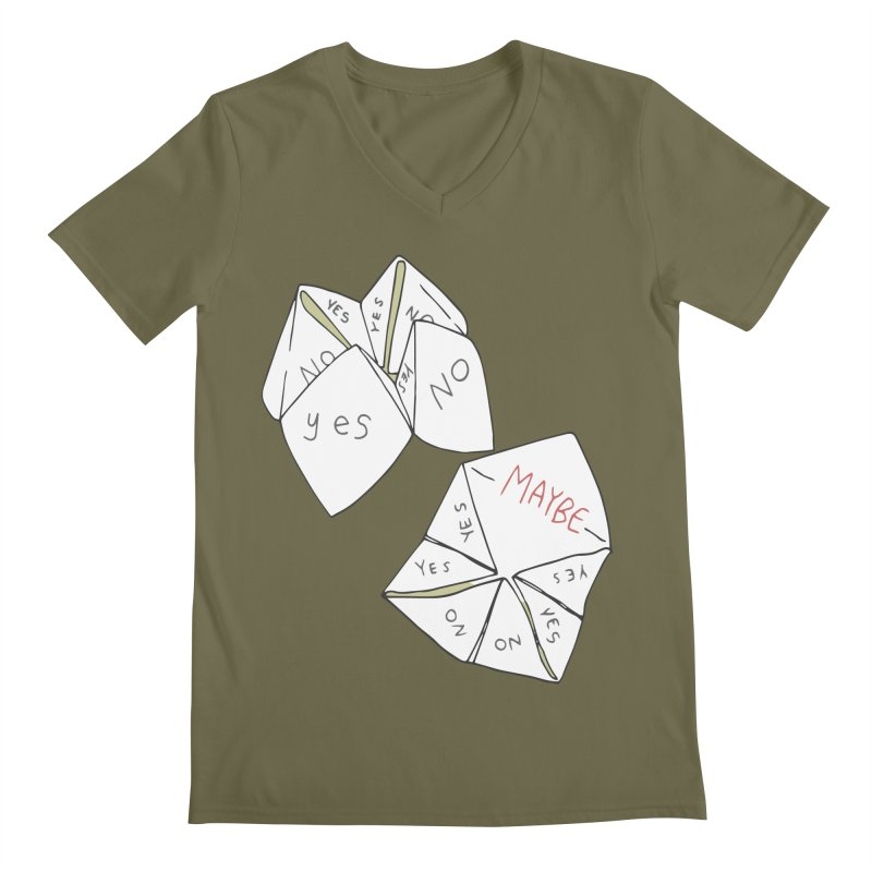 Simple Answer Men's V-Neck by bad arithmetic