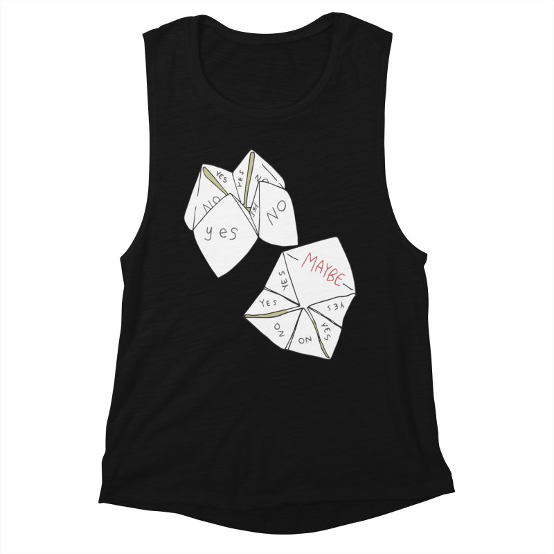 Simple Answer Women's Muscle Tank by bad arithmetic