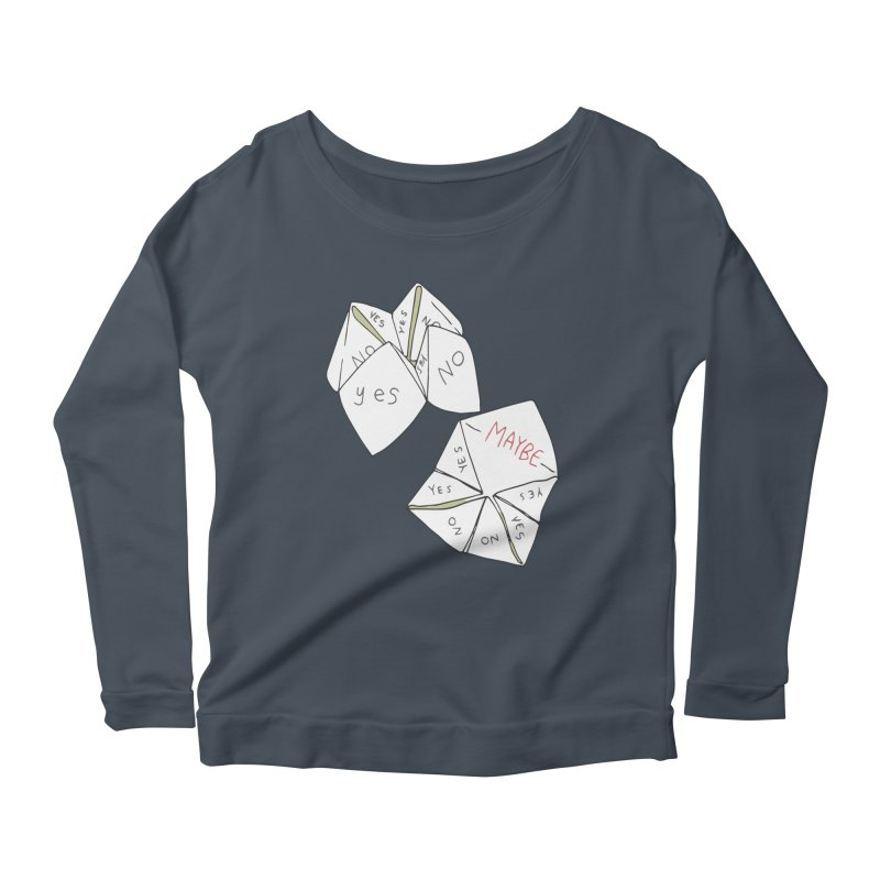 Simple Answer Women's Scoop Neck Longsleeve T-Shirt by bad arithmetic