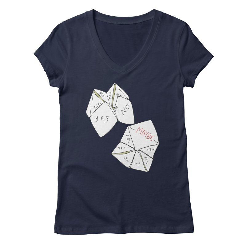 Simple Answer Women's Regular V-Neck by bad arithmetic