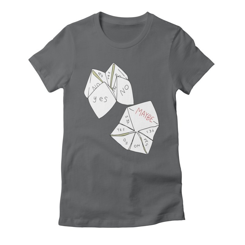 Simple Answer Women's Fitted T-Shirt by bad arithmetic