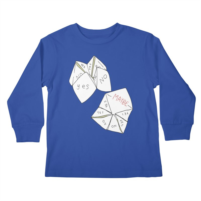 Simple Answer Kids Longsleeve T-Shirt by bad arithmetic