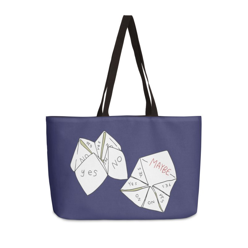 Simple Answer Accessories Weekender Bag Bag by bad arithmetic