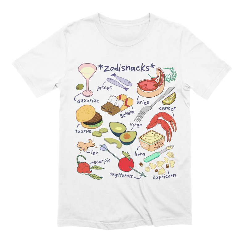 Zodisnacks Men's Extra Soft T-Shirt by napiform clip art