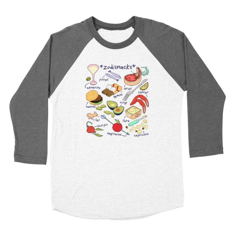 Zodisnacks Women's Baseball Triblend Longsleeve T-Shirt by bad arithmetic