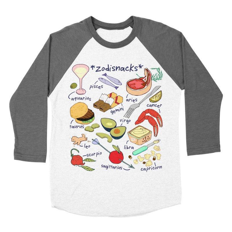 Zodisnacks Men's Baseball Triblend Longsleeve T-Shirt by bad arithmetic