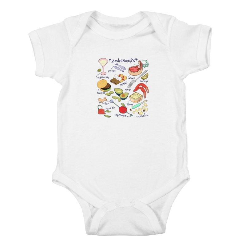Zodisnacks Kids Baby Bodysuit by bad arithmetic