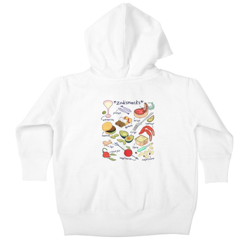 Zodisnacks Kids Baby Zip-Up Hoody by napiform clip art