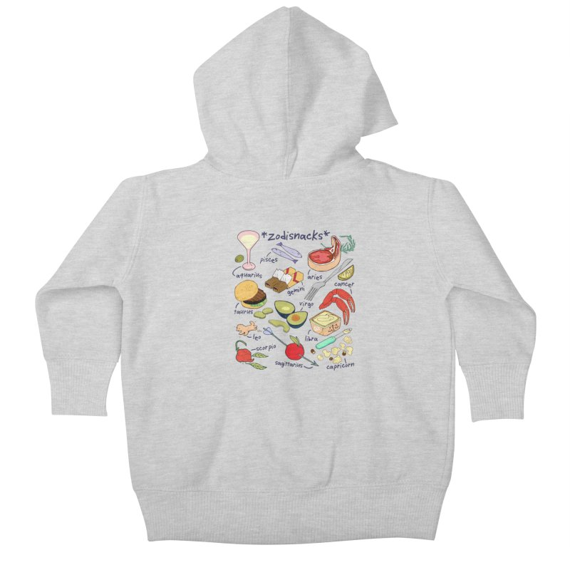 Zodisnacks Kids Baby Zip-Up Hoody by bad arithmetic