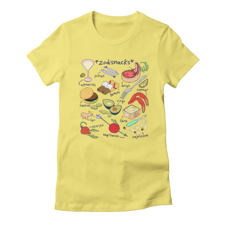 Zodisnacks Women's Fitted T-Shirt by bad arithmetic