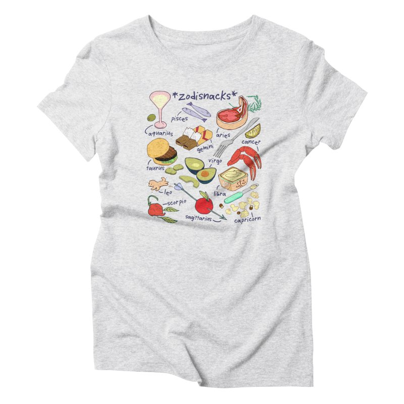Zodisnacks Women's Triblend T-Shirt by bad arithmetic