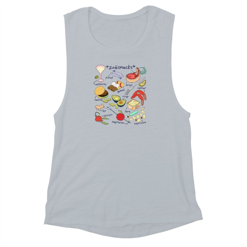Zodisnacks Women's Muscle Tank by napiform clip art