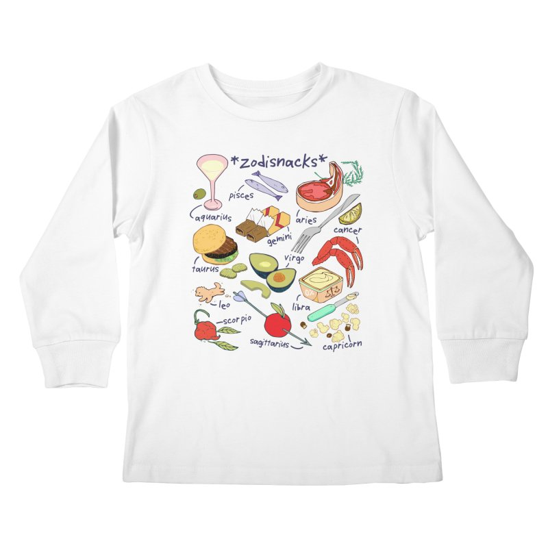 Zodisnacks Kids Longsleeve T-Shirt by bad arithmetic