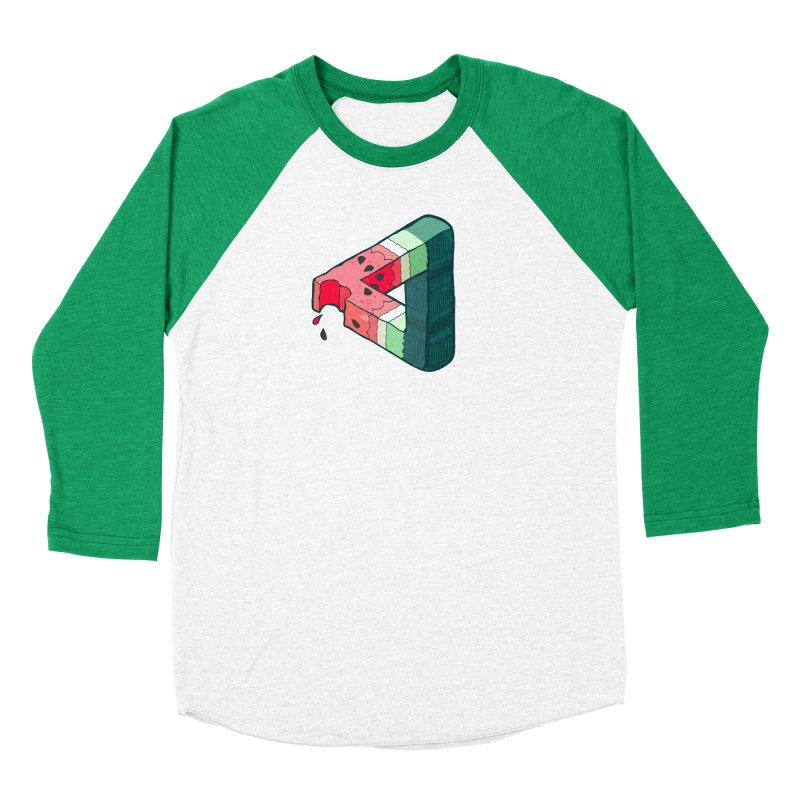 Juicy Geometry Men's Baseball Triblend Longsleeve T-Shirt by bad arithmetic