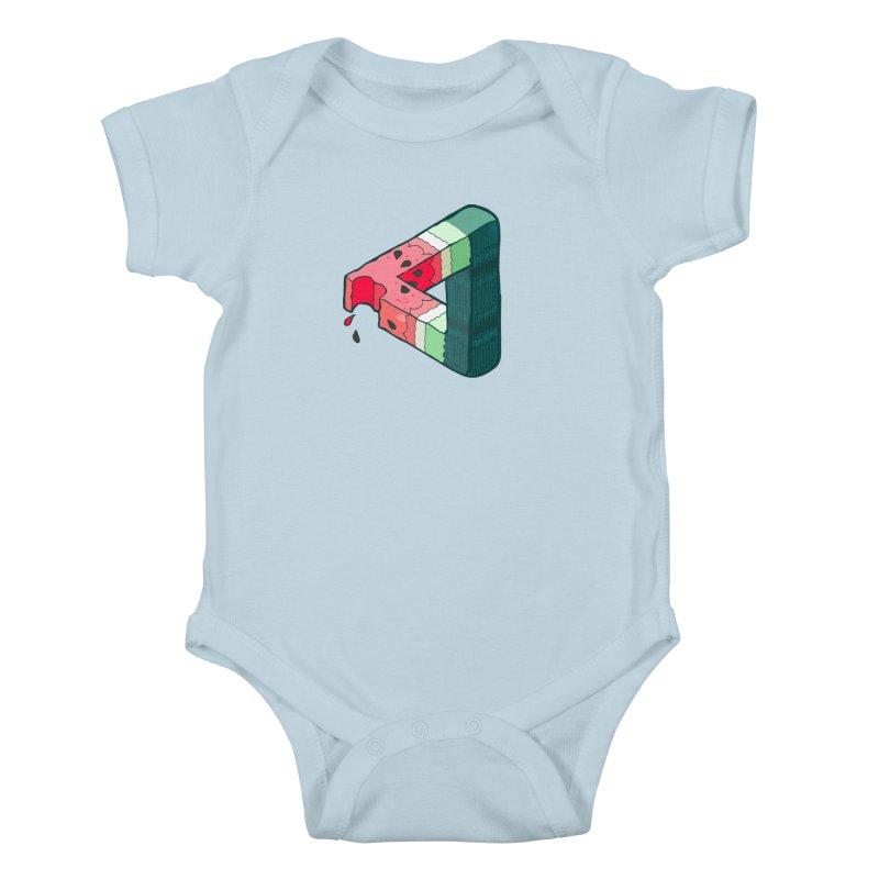 Juicy Geometry Kids Baby Bodysuit by bad arithmetic