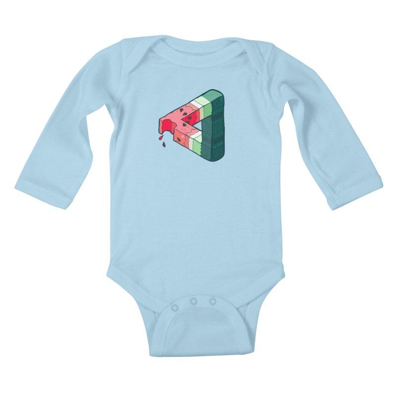 Juicy Geometry Kids Baby Longsleeve Bodysuit by bad arithmetic