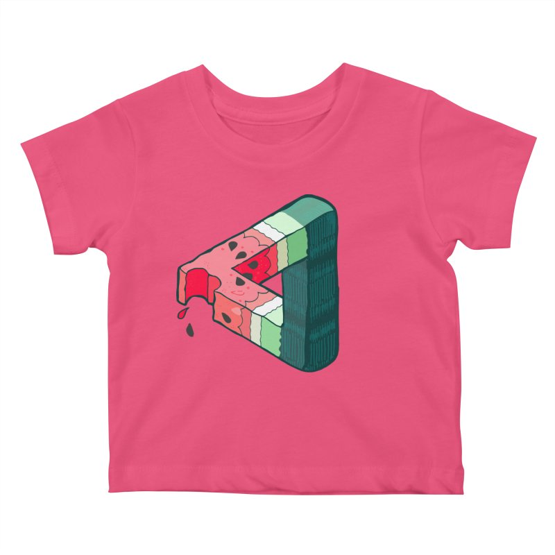 Juicy Geometry Kids Baby T-Shirt by bad arithmetic