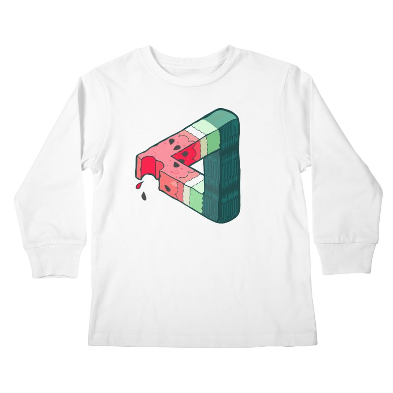 Juicy Geometry Kids Longsleeve T-Shirt by bad arithmetic