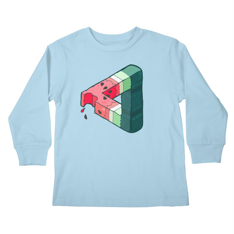Juicy Geometry Kids Longsleeve T-Shirt by bad arithmetic