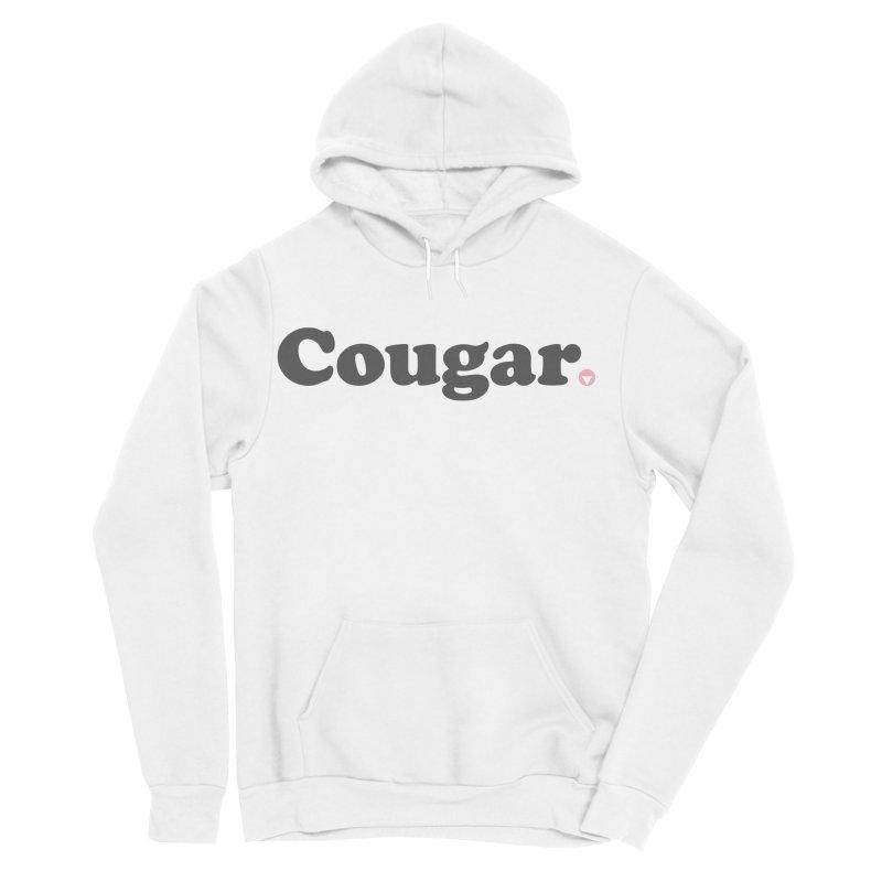Cougar (Charcoal) Women's Sponge Fleece Pullover Hoody by Baddassery