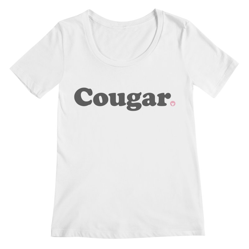 Cougar (Charcoal) Women's Regular Scoop Neck by Baddassery