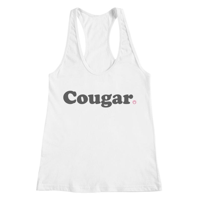 Cougar (Charcoal) Women's Racerback Tank by Baddassery
