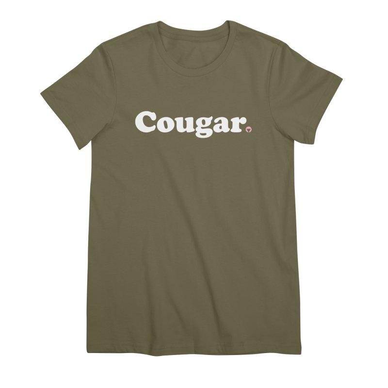 Cougar (White) Women's Premium T-Shirt by Baddassery