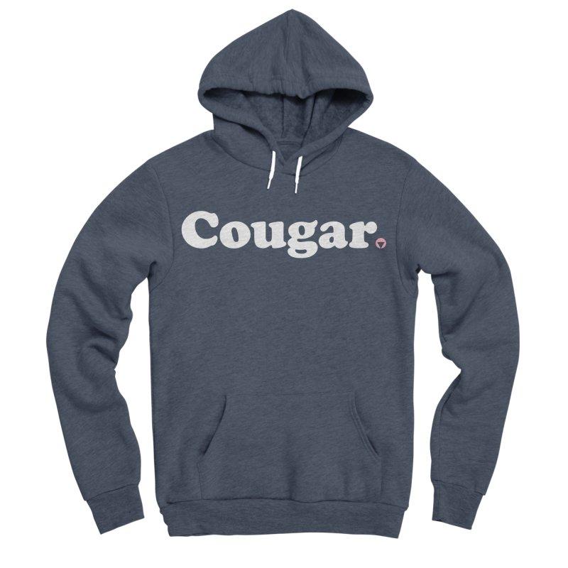 Cougar (White) Women's Sponge Fleece Pullover Hoody by Baddassery
