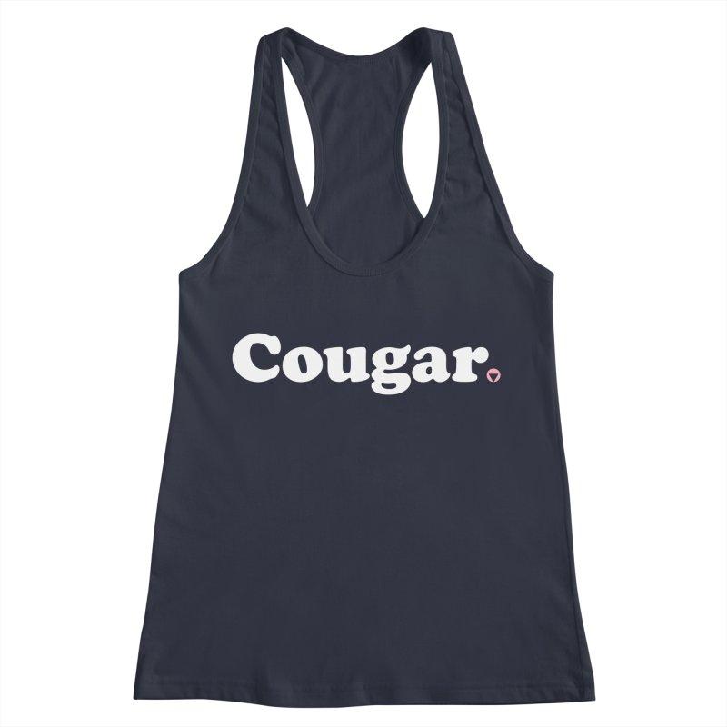 Cougar (White) Women's Racerback Tank by Baddassery
