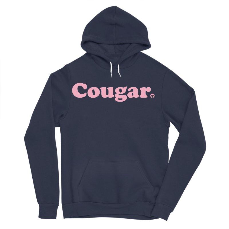 Cougar (Pink) Women's Sponge Fleece Pullover Hoody by Baddassery