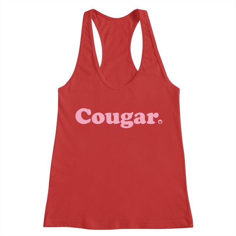 Cougar (Pink) Women's Racerback Tank by Baddassery
