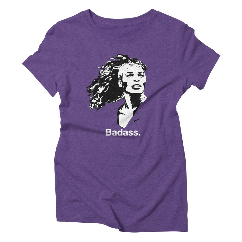 Serena Williams in Women's Triblend T-Shirt Tri-Purple by Badasses on Tees